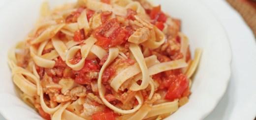 Linguini with Chicken Ragu 2