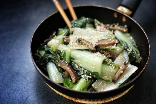 Bok Choy and Shiitake in Sesame Oil 3