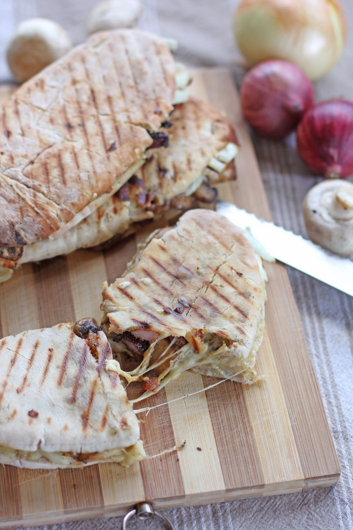 Bacon Mushroom Mozzarella Melt Panini