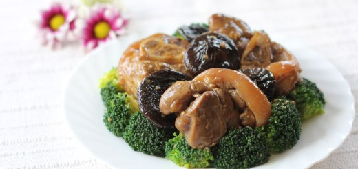 Braised Pork Hock and Broccoli 1
