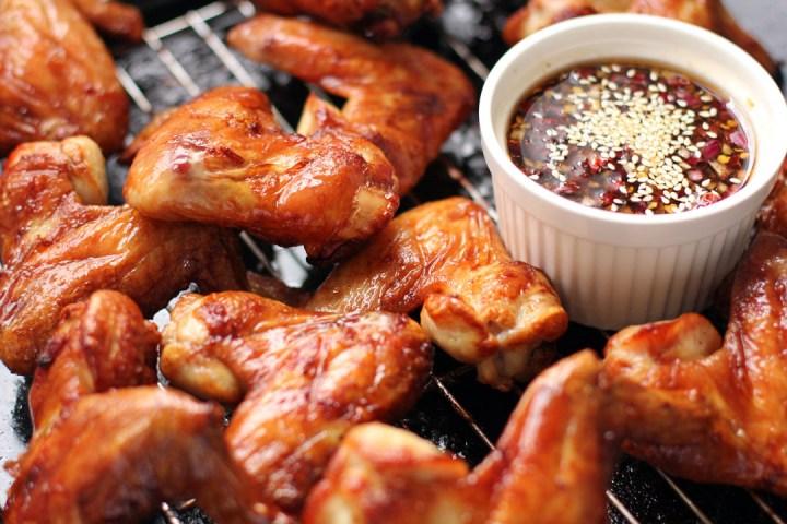 Korean-Style Chicken Wings Wide