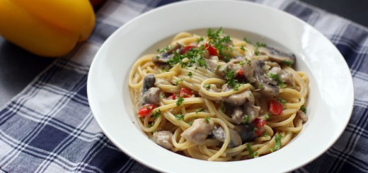 Creamy Chicken, Mushroom and Bell Pepper Pasta 1