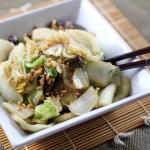 Stir Fried Chinese Cabbage and Shiitake Mushrooms 1