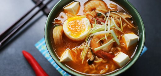 Spicy Tofu and Prawn Ramen 1