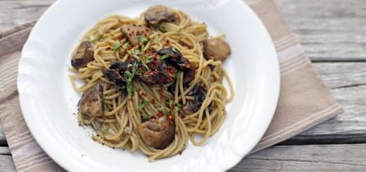 Spaghetti Aglio Olio e Funghi 1