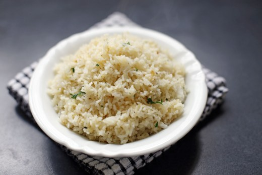 Butter Garlic Herb Rice 1
