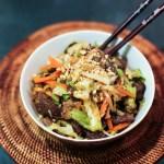 Beef and Vegetable Stir Fry in Peanut Sauce 1
