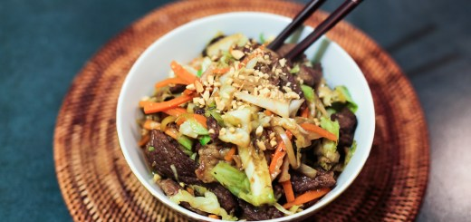 Beef and Vegetable Stir Fry in Peanut Sauce 1