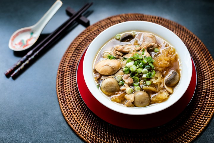 Chinese Herbal Chicken Soup Wide