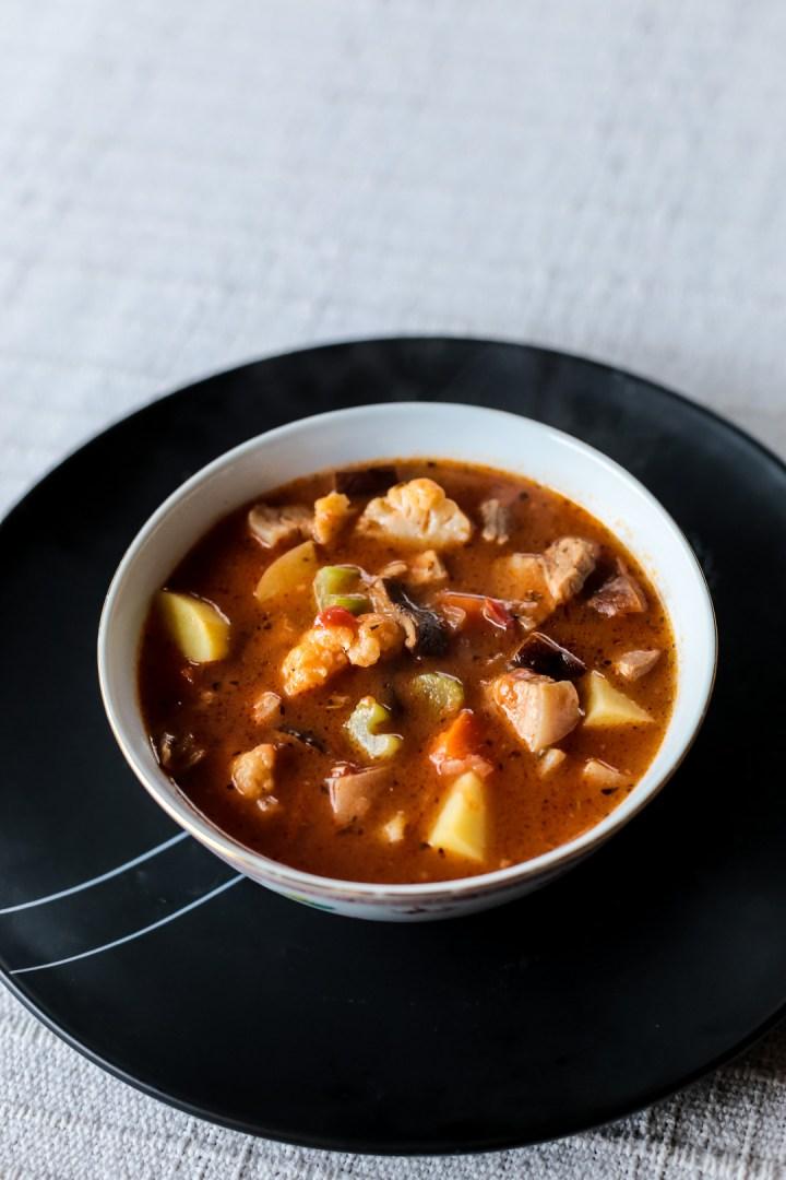 Chunky Pork and Vegetable Soup