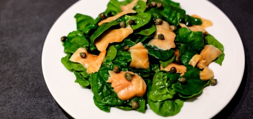 Smoked Salmon and Spinach Salad 1
