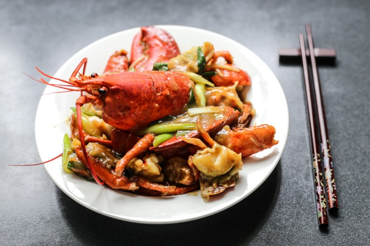 Cantonese-Style Ginger Scallion Lobster Wide