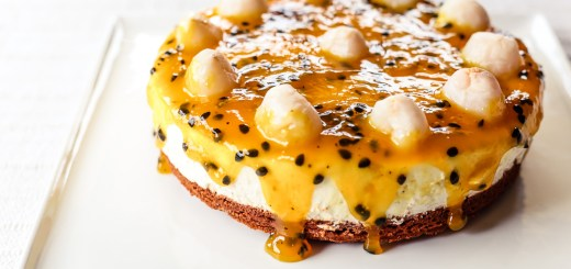 Passionfruit and Lychee Cheesecake 2