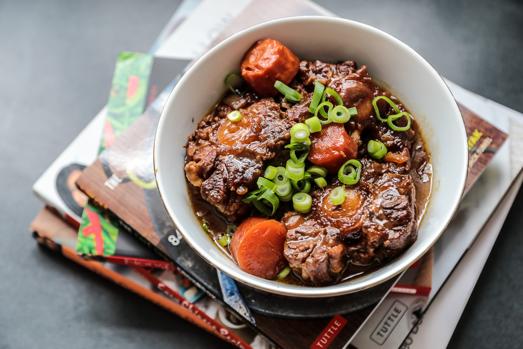 Asian Style Braised Ox Tail Wide