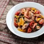 Thai Shrimp Stir-fry with Tomatoes and Basil 1