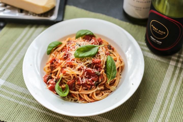 Tomato Sauce Spaghetti 1