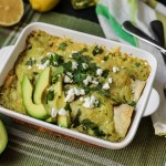 Avocado Chicken Suiza Enchilada 1