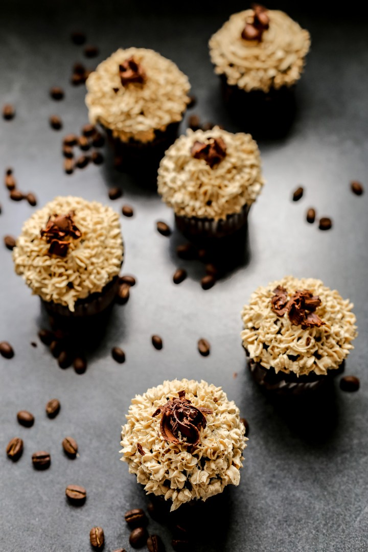 Chocolate Cupcakes with Coffee Buttercream