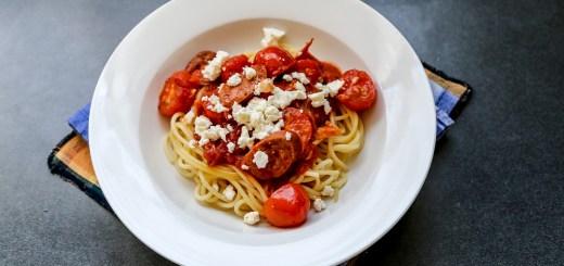 Chorizo, Tomato and Feta Pasta 1