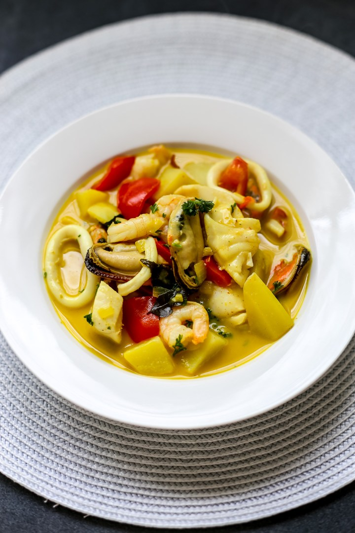 Curried Coconut and Seafood Chowder