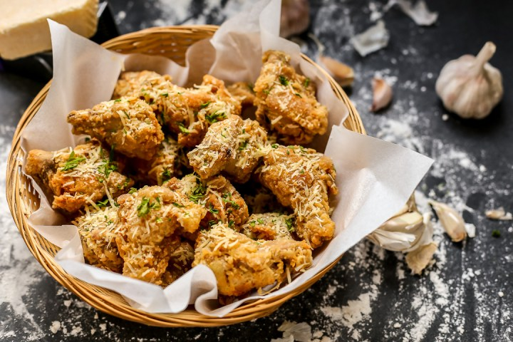 Parmesan Garlic Fried Chicken Wide