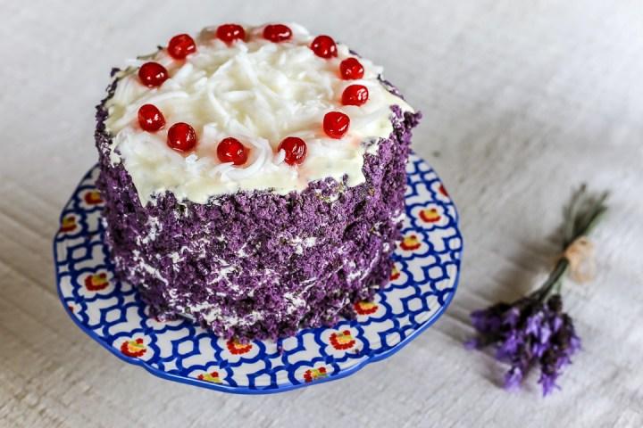 Ube Cake Wide