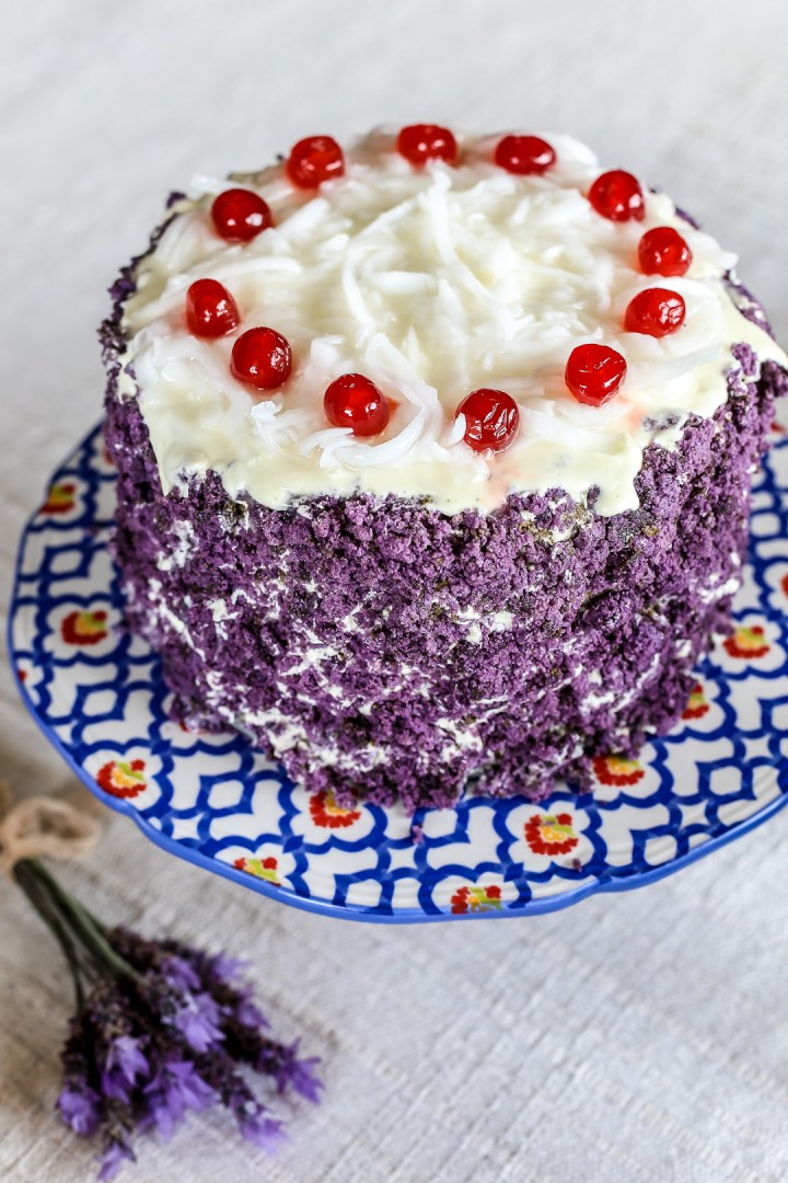Ube Macapuno Cake Red Ribbon