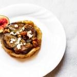 Fig, Walnut and Goats Cheese Feta Tarte Tatin 1