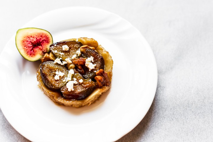 Fig, Walnut and Goats Cheese Feta Tarte Tatin Wide