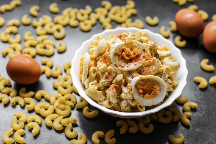 Devilled Egg Macaroni Salad Wide