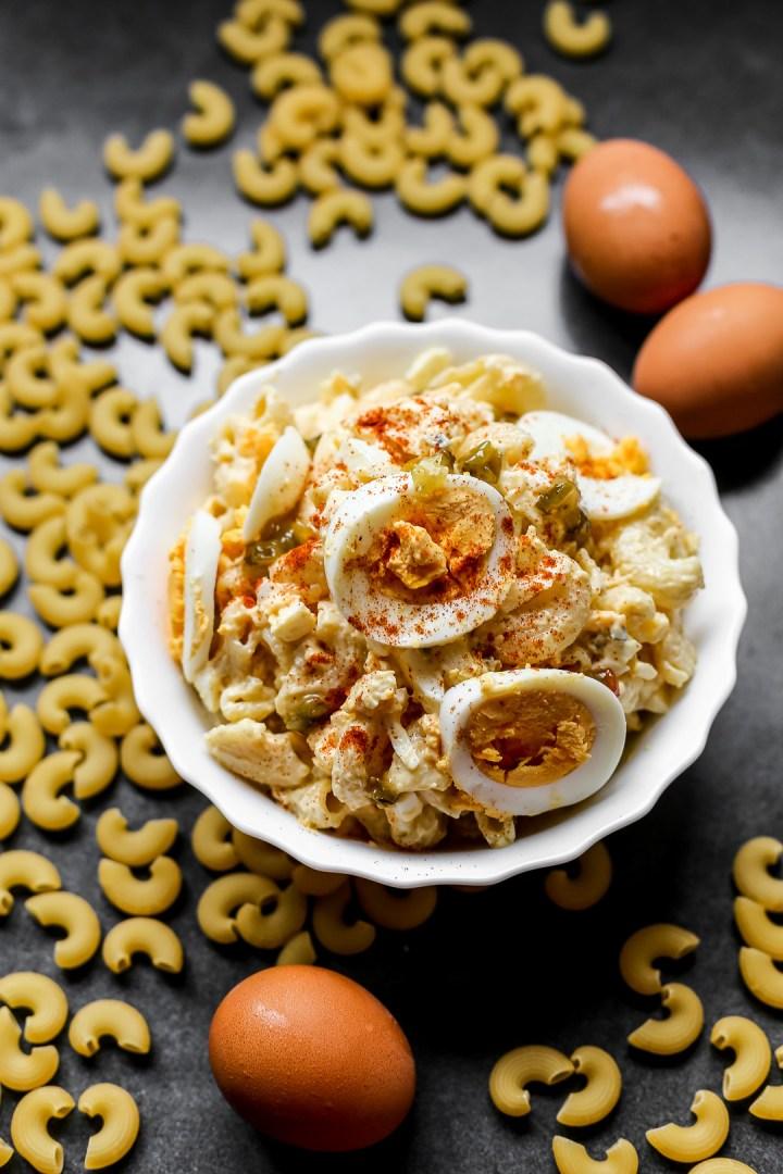 Devilled Egg Macaroni Salad