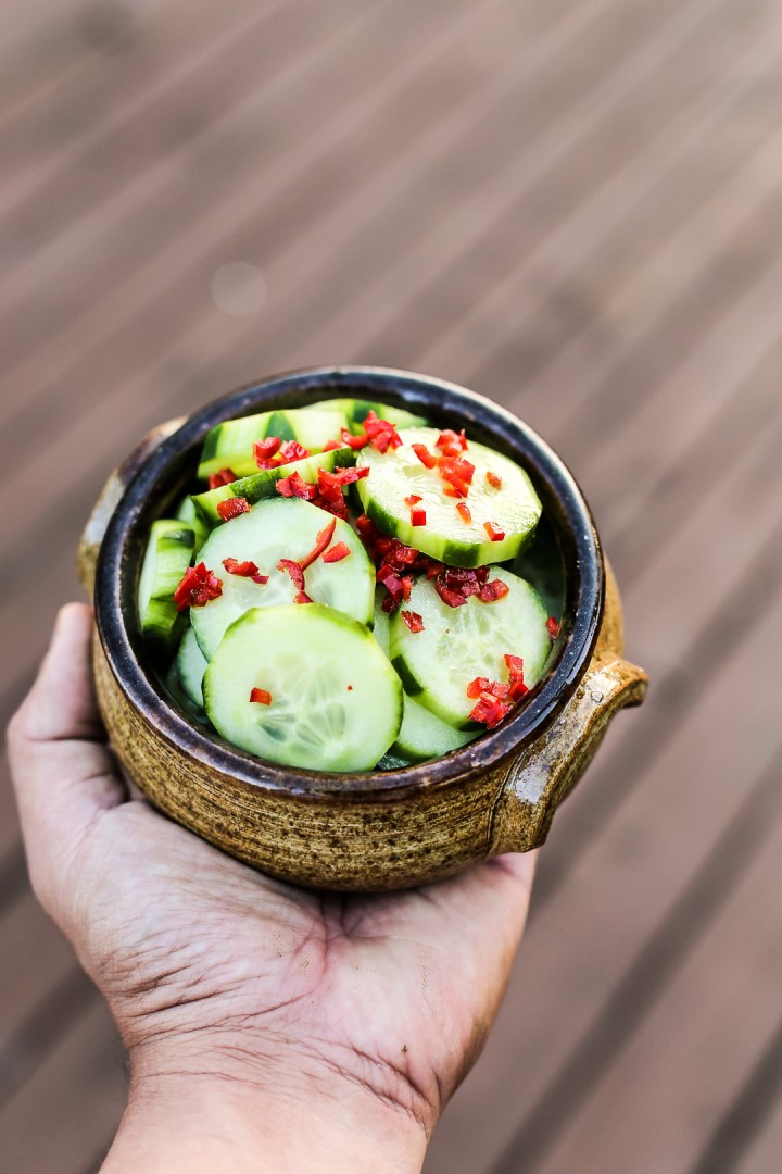 Spicy Sweet Cucumber Salad