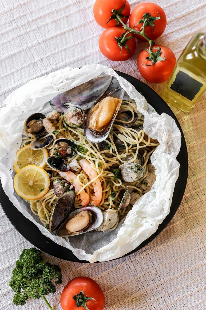 Seafood Pasta al Cartoccio-Edit
