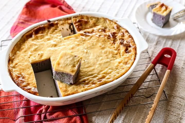 Ube Cassava Cake Wide