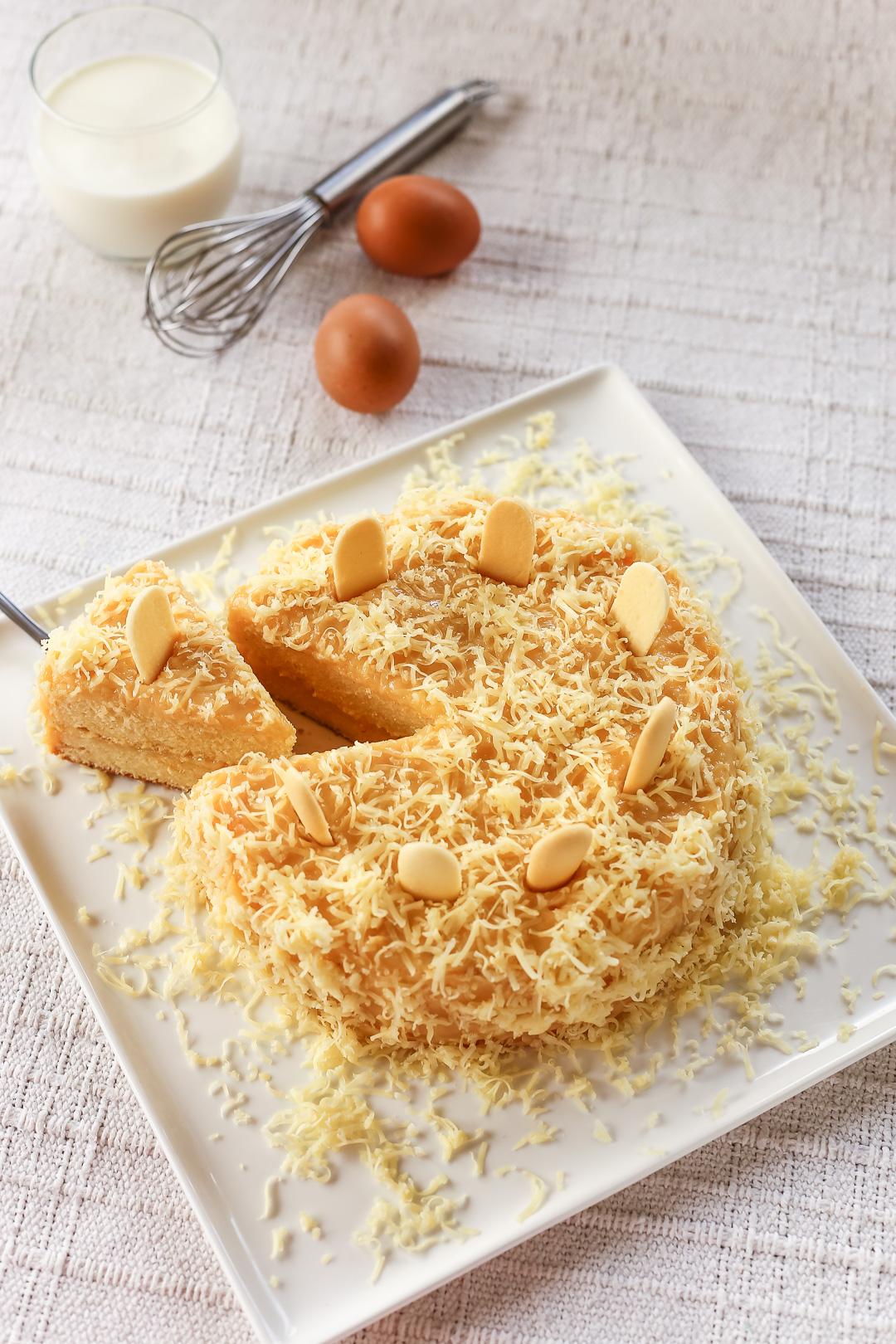 Yema Cake With Cream Cheese