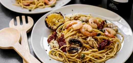 Mediterranean Seafood Pasta 2