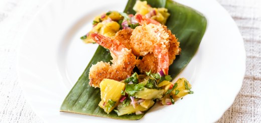 Coconut Crusted Prawns with Pineapple Salsa 1