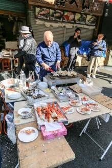 Tsukiji Fish Market Street Food 15
