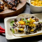Spicy Chicken and Mango Salsa Soft Tacos 2