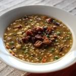 Split Pea, Lentil and Barley Soup 1