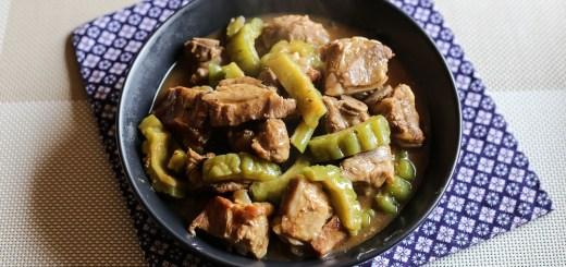 Braised Pork Ribs and Bitter Gourd in Black Bean Sauce 1