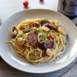 Prawn, Chorizo and Chilli Pasta 1