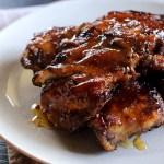 Spicy Apricot-Glazed Barbecue Pork Ribs 1