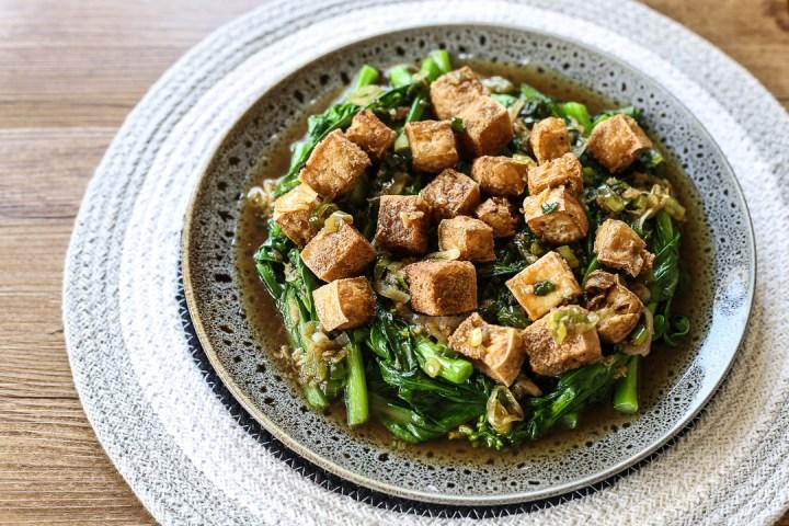 Crispy Tofu and Choy Sum 1