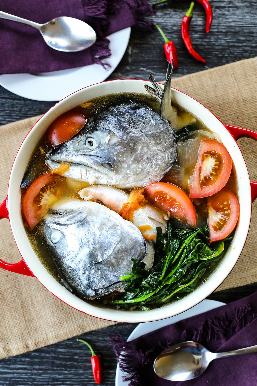 Sinigang Na Ulo Ng Salmon Sa Miso Ang Sarap