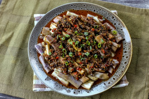 Hunan Style Steamed Eggplant 1