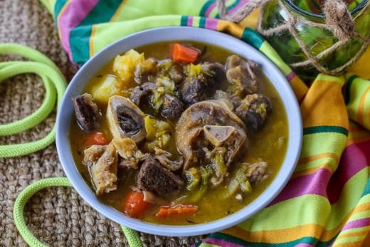 Haitian Beef and Pumpkin Soup (Soup Joumou) 2