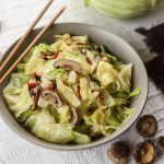 Taiwanese Braised Cabbage with Shrimp, Chilies and Shiitake Mushrooms 1