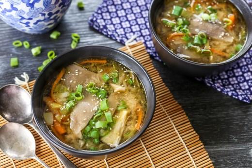 Oyster Mushroom Miso Soup 2