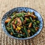 Stir Fried Green Beans, Corn and Mushrooms 1